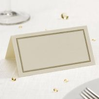 Ivory & Gold Place Cards (50)